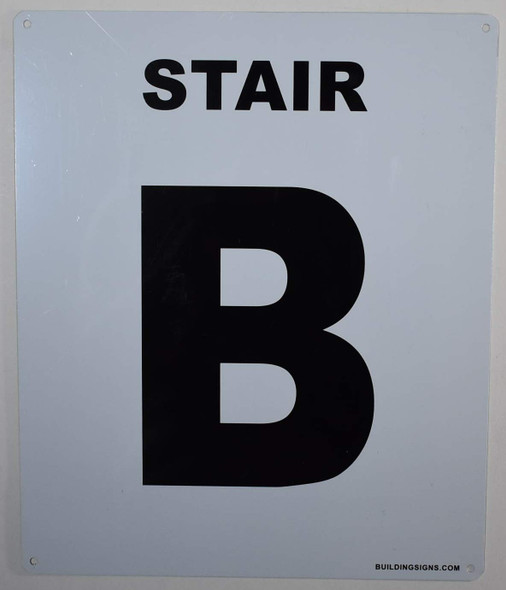 Stair B Sign for Buildings
