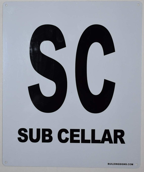 SUB Cellar Sign for Buildings