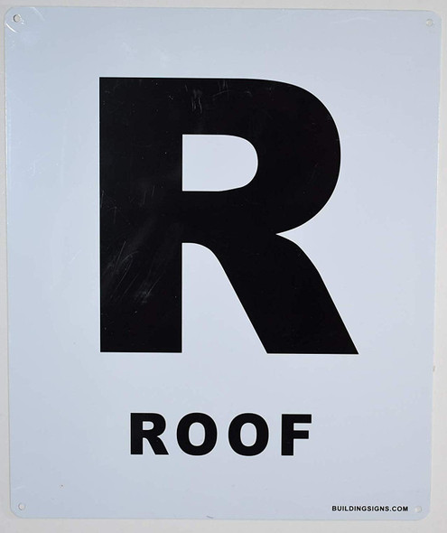 ROOF Floor Number Sign-Grand Canyon Line
