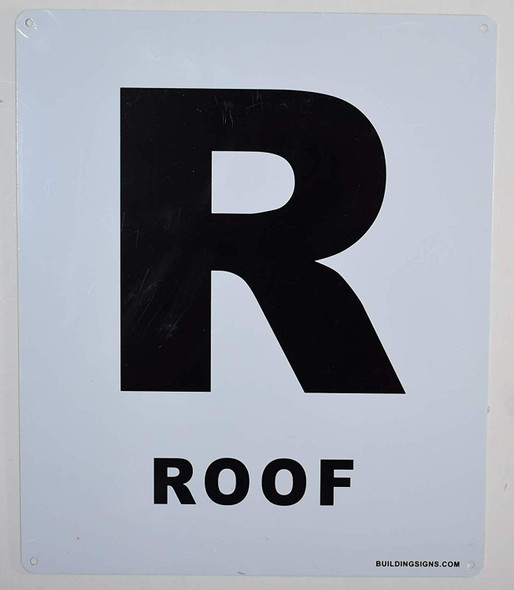 ROOF Floor Number Sign  for Buildings