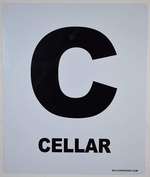 Cellar Floor Sign for Buildings