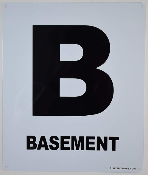 Basement Floor Sign for Buildings