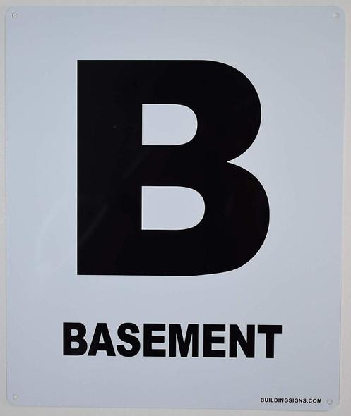 Basement Floor Sign for Buildings