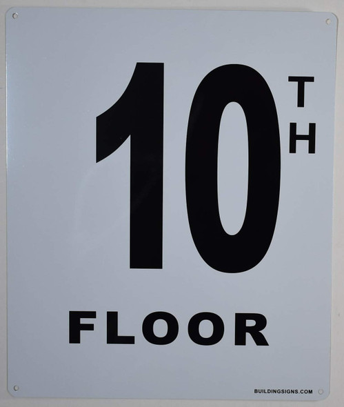 10th Floor Sign for Buildings