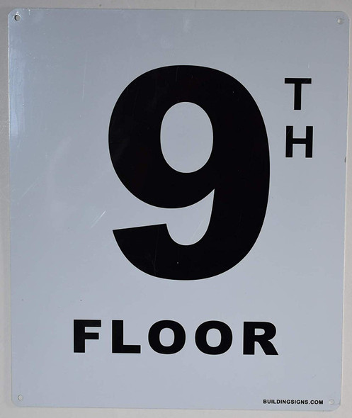 9th Floor Sign