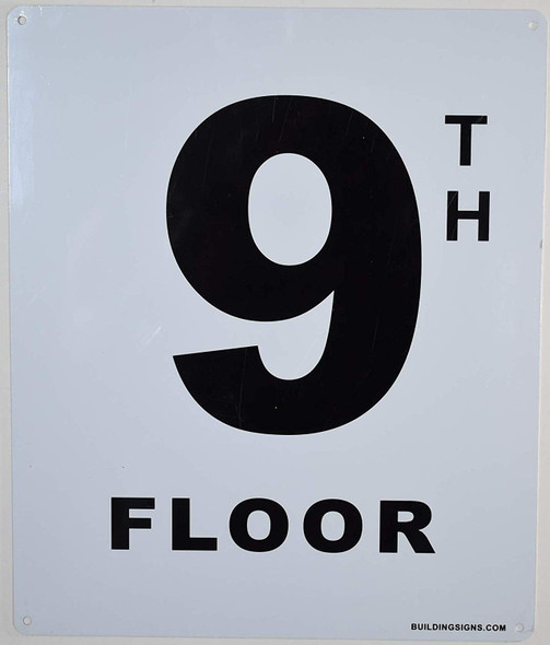 9th Floor Sign for Buildings