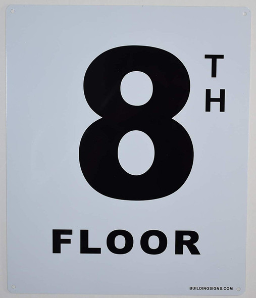 8th Floor Sign