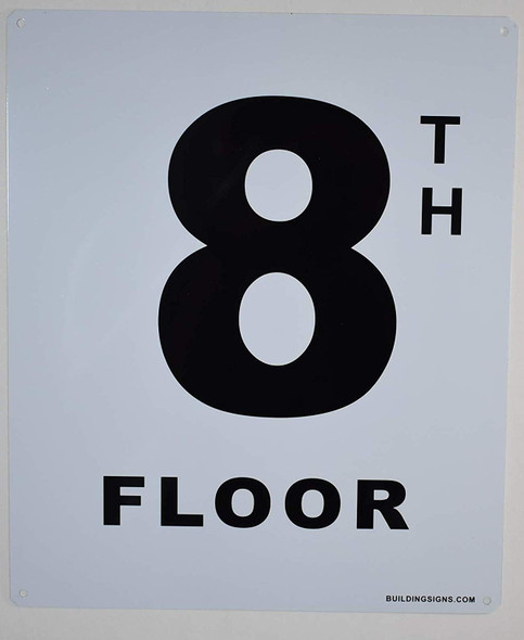 8th Floor Sign for Buildings