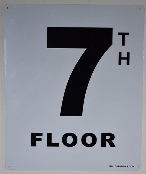7th Floor Sign for Buildings