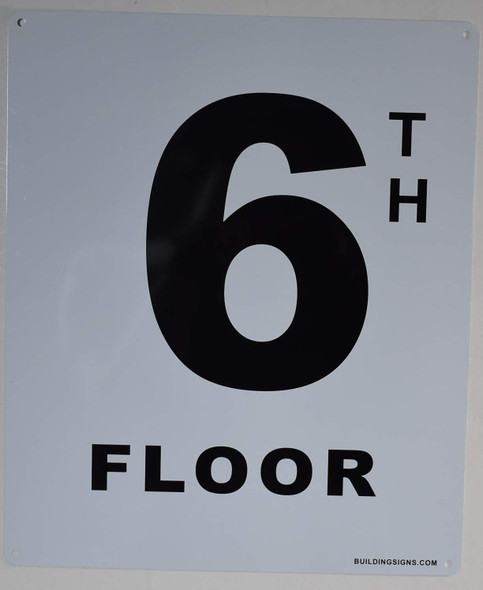 6th Floor Sign for Buildings