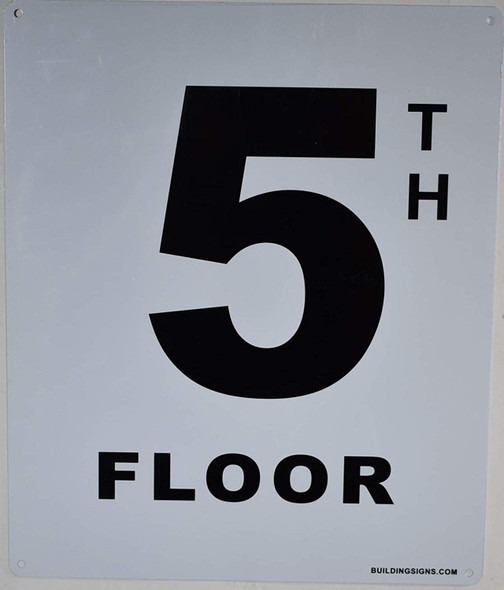 5th Floor Sign