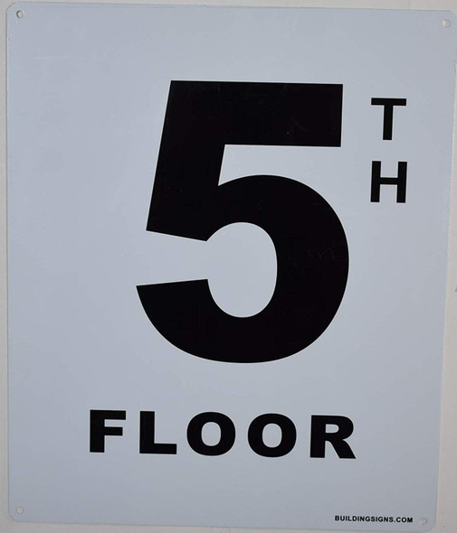 5th Floor Sign for Buildings