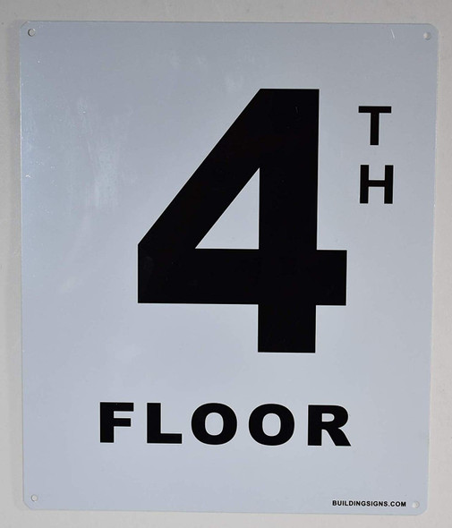 4th Floor Sign for Buildings