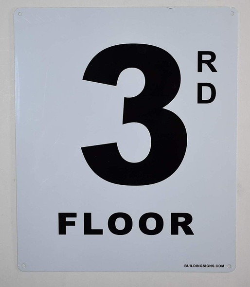 3rd Floor Sign for Buildings