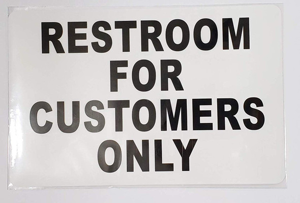 2 PCS Sticker - Restroom for Customer ONLY Sign