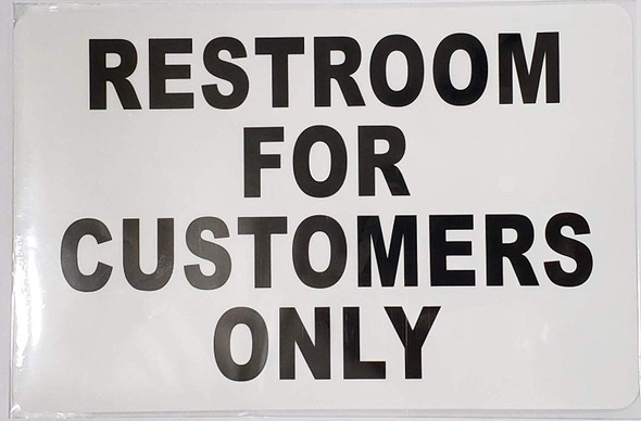 2 PCS Sticker - Restroom for Customer ONLY Sign for Buildings