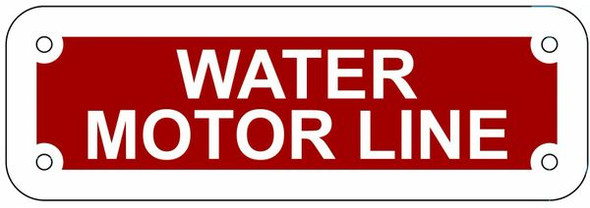 WATER MOTOR LINE Sign