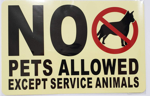 2 PCS Window Sticker- No Pets Allowed Except Service Animals for Buildings