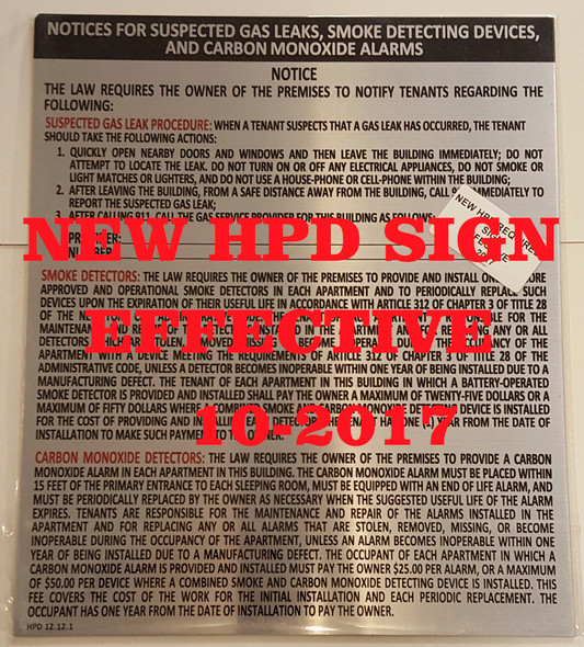 nyc hpd COMBINED NOTICE SIGN