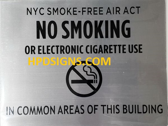 HPD No Smoking or Electric cigarette
