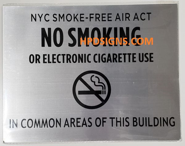 NYC No Smoking or Electric cigarette