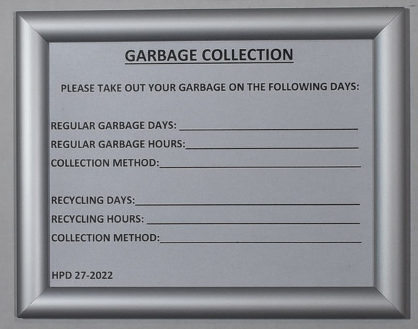 GARBAGE COLLECTION HPD 27-2022