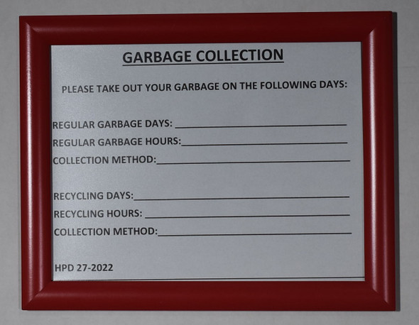 GARBAGE COLLECTION HPD