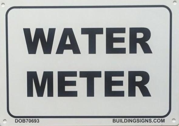 WATER METER SIGNAGE (WHITE  ALUMINIUM )