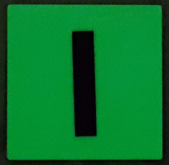 PHOTOLUMINESCENT DOOR IDENTIFICATION NUMBER I SIGN HEAVY DUTY / GLOW IN THE DARK