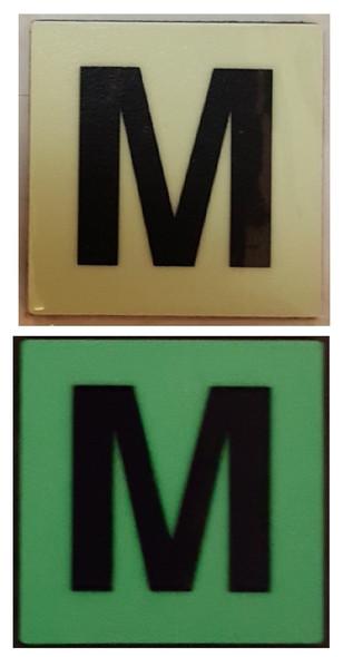 PHOTOLUMINESCENT DOOR IDENTIFICATION NUMBER N SIGN HEAVY DUTY / GLOW IN THE DARK