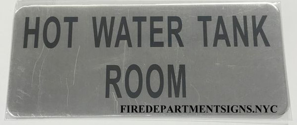 HOT WATER TANK ROOM SIGNAGE - BRUSHED ALUMINUM - The Mont Argent Line