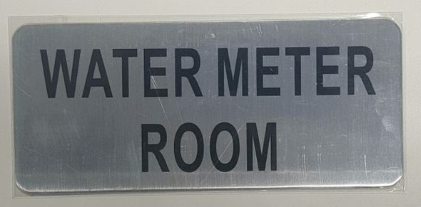 WATER METER ROOM SIGN - BRUSHED ALUMINUM - The Mont Argent Line