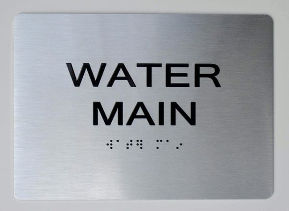 WATER MAIN ADA Sign -Tactile Signs  The sensation line Ada sign