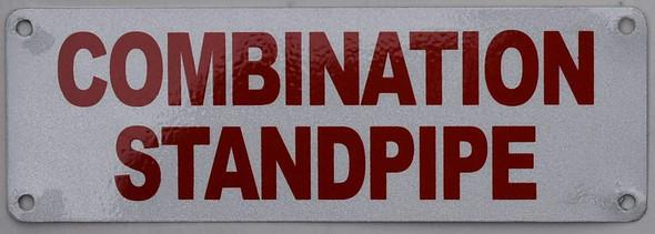 Combination Standpipe Sign (White Reflective,Aluminium 4x12)
