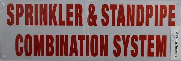 Sprinkler & Standpipe Combination System Signage