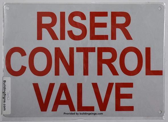 Riser Control Valve Sign