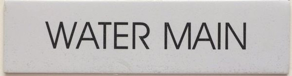 WATER MAIN Sign Pure White