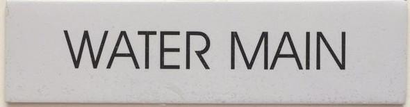 WATER MAIN SIGNAGE - PURE WHITE