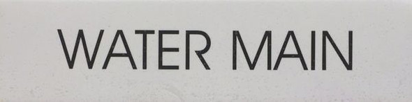 WATER MAIN hpd sign