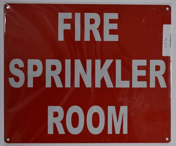 FIRE Sprinkler Room Sign (Red, Reflective, Aluminium 10x12)