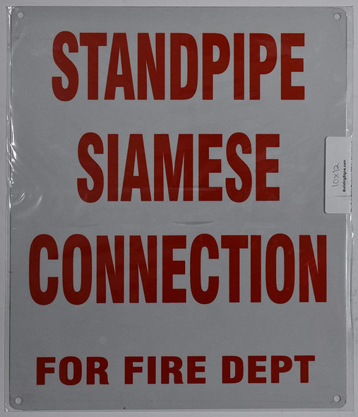 Standpipe Siamese Connection for FIRE DEPT Sign