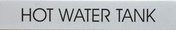 HOT WATER TANK SIGNAGE - PURE WHITE