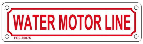 WATER MOTOR LINE Sign
