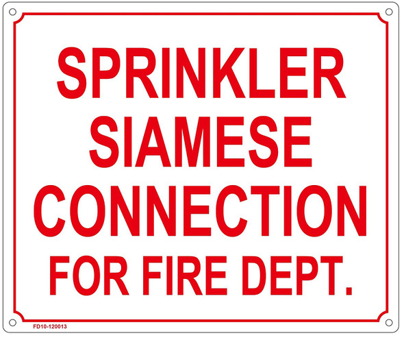 SPRINKLER SIAMESE CONNECTION FOR FIRE DEPT Sign