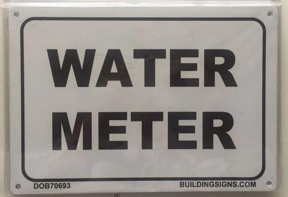 WATER METER Sign