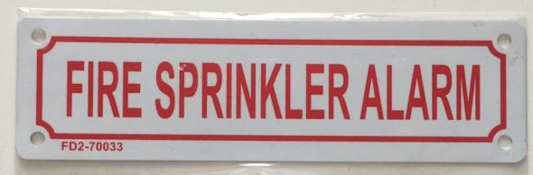 FIRE SPRINKLER ALARM Signage