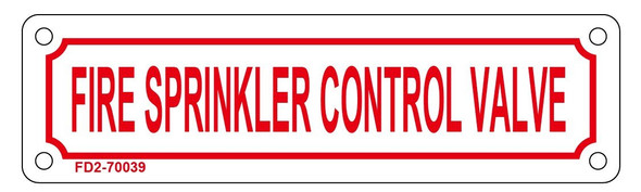 FIRE Sprinkler Control Valve Sign