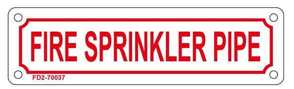 FIRE SPRINKLER PIPE SIGN