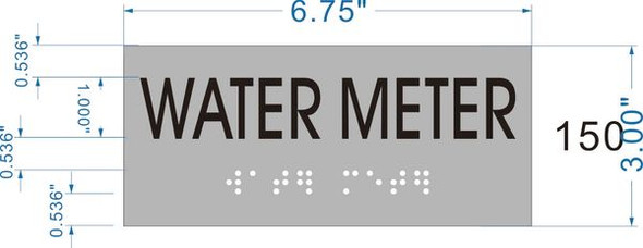 WATER METER Sign -Tactile Signs    Braille sign