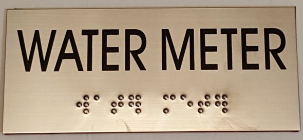 ADA SIGN WATER METER Sign -Tactile Signs